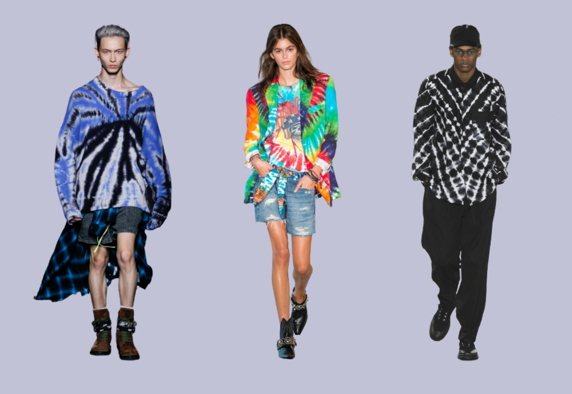 men-women-wearing-tie-dye-sweater-blazer-shirt-on-runway
